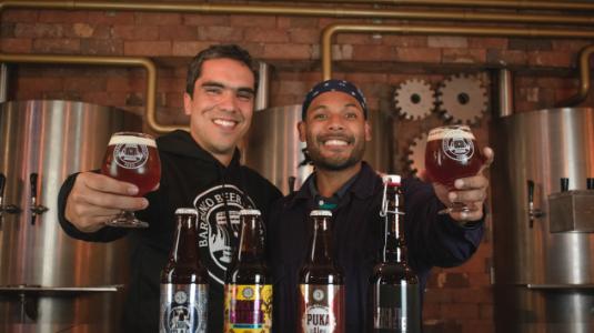Maurice Lefevre CEO & JVictor Joya Encargado Cerveceria Barranco Beer Company b